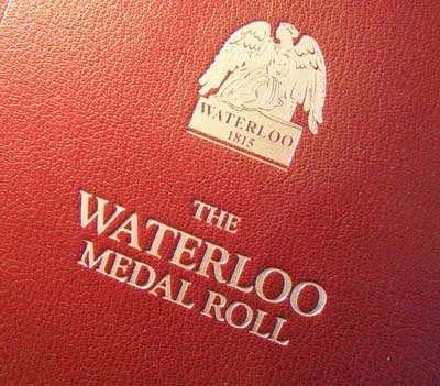 Waterloo Medal Roll Leatherbound