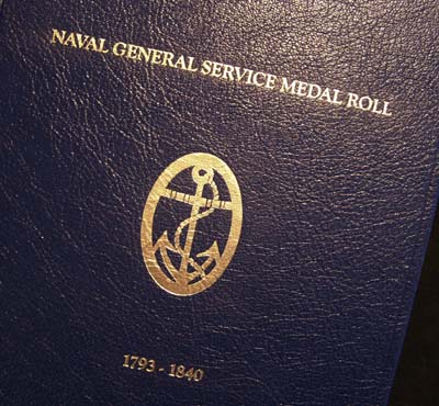 Naval General Service Medal Roll 1793-1840 Leatherbound