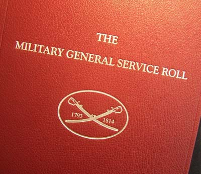 Military General Service Medal Roll 1793-1814 Leatherbound