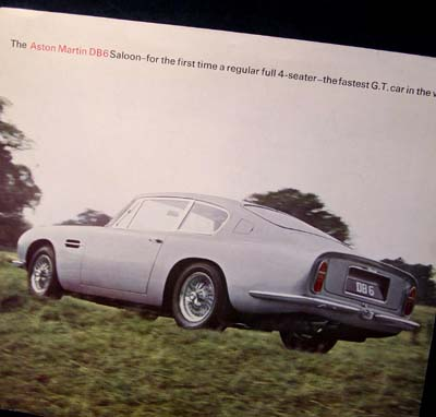 Aston Martin DB6 Brochure 1965