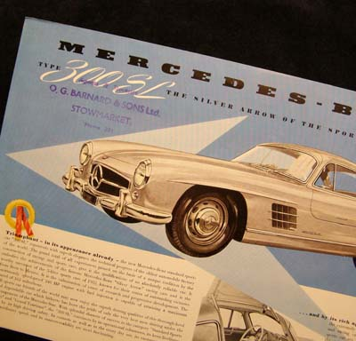 Mercedes-Benz 300SL Gullwing Brochure 1954