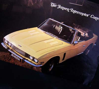 Jensen Interceptor Convertible Brochure 1974