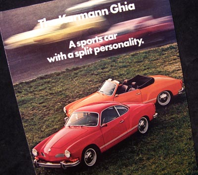 Karmann Ghia 1972 Brochure.