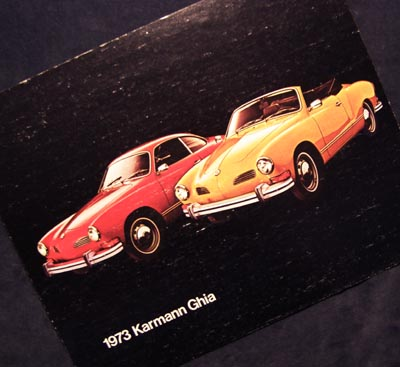 Karmann Ghia 1973 Brochure.